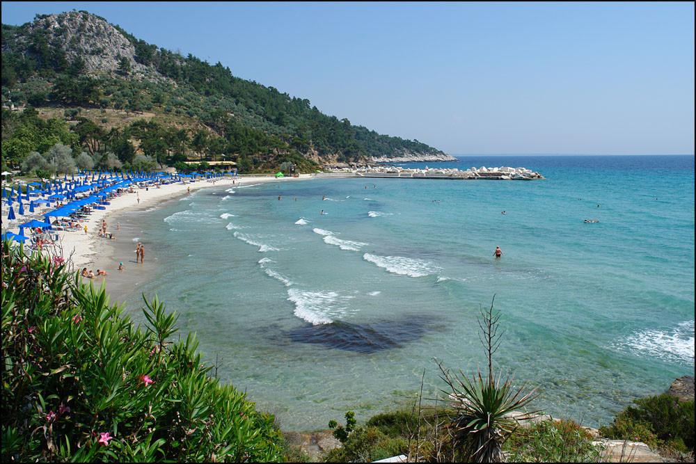 unser Strand,der 'MAKRYAMMOS BEACH'