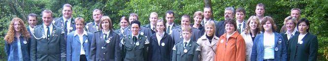 2005:  ehemalige Kinderkönige beim 40 jährigen Kinderschützenfestjubiläum
