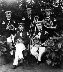 Mitglieder des Posaunenchores vor 1900