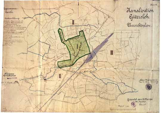 Übersichtsplan der Regenwasserkanäle, 1914