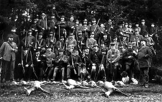 """Jagdausflug der Gesellschaft """"Eintracht"""" am 16. Oktober 1899"""