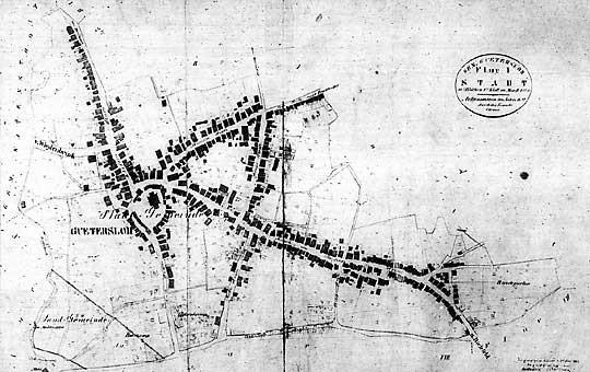 Gütersloh Ortskern 1822