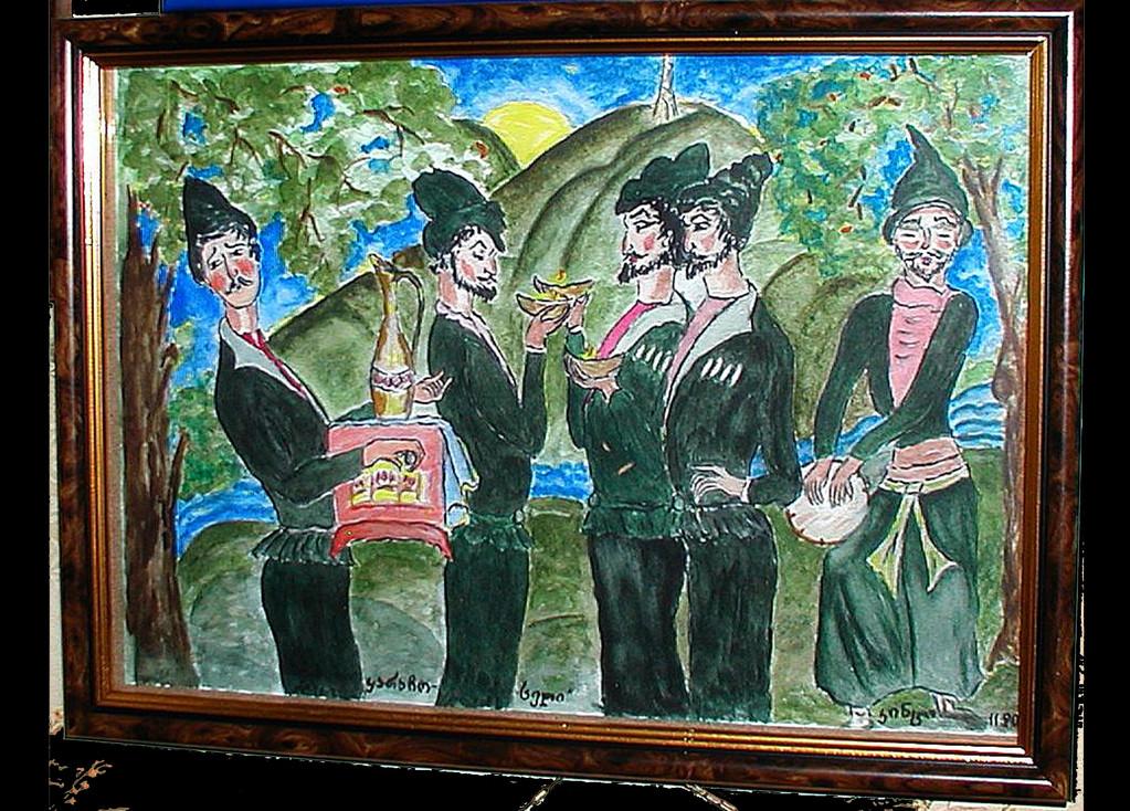 On motives of works of Lado Gudiashvili - 2012