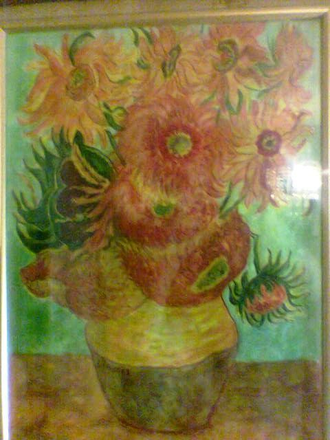 "On motives of a series of Vincent Van Gogh ""Sunflowers"" - August, 2012"