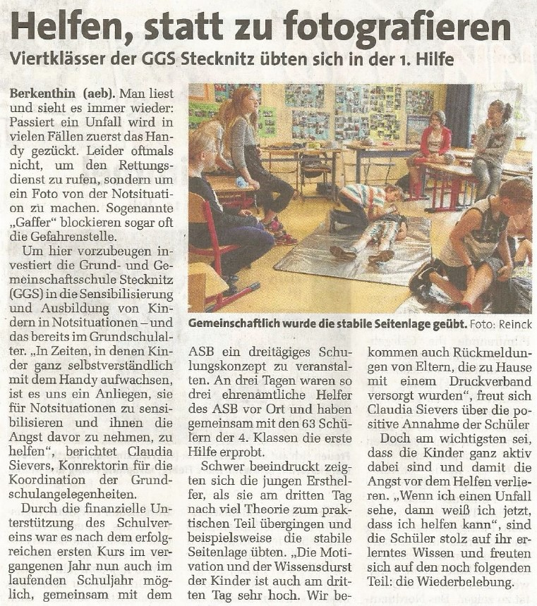 """Zeitungsartikel aus """"Markt"""" vom 12.07.2017"""