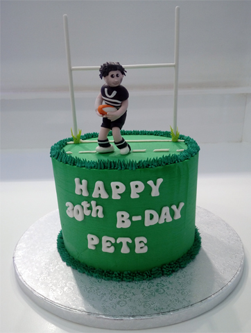 Rugby fondant y buttercream