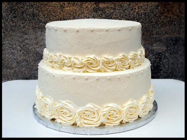 Tarta de Boda decorada con BUTTERCREAM