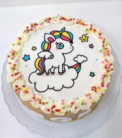 Tarta foto unicornio