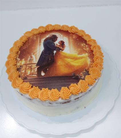 Tarta La Bella y la Bestia Disney