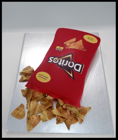 Tarta 3D FONDANT Doritos
