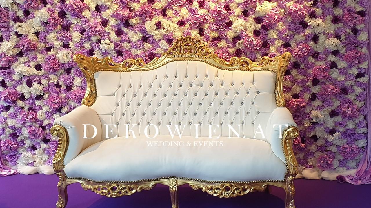 Blumenwand mieten- Sofa mieten/ dancing Star 2019