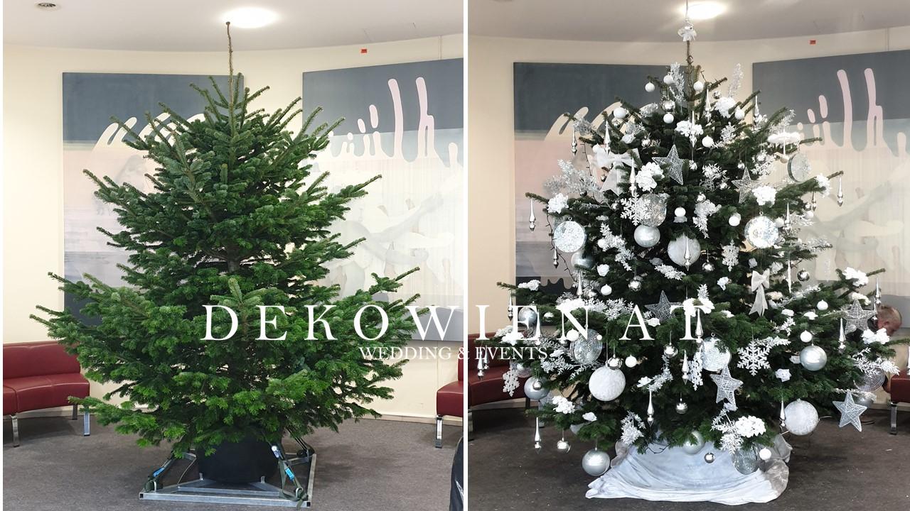 Weihnachtsdekoration Fa. Kapsch mit Echtbaum