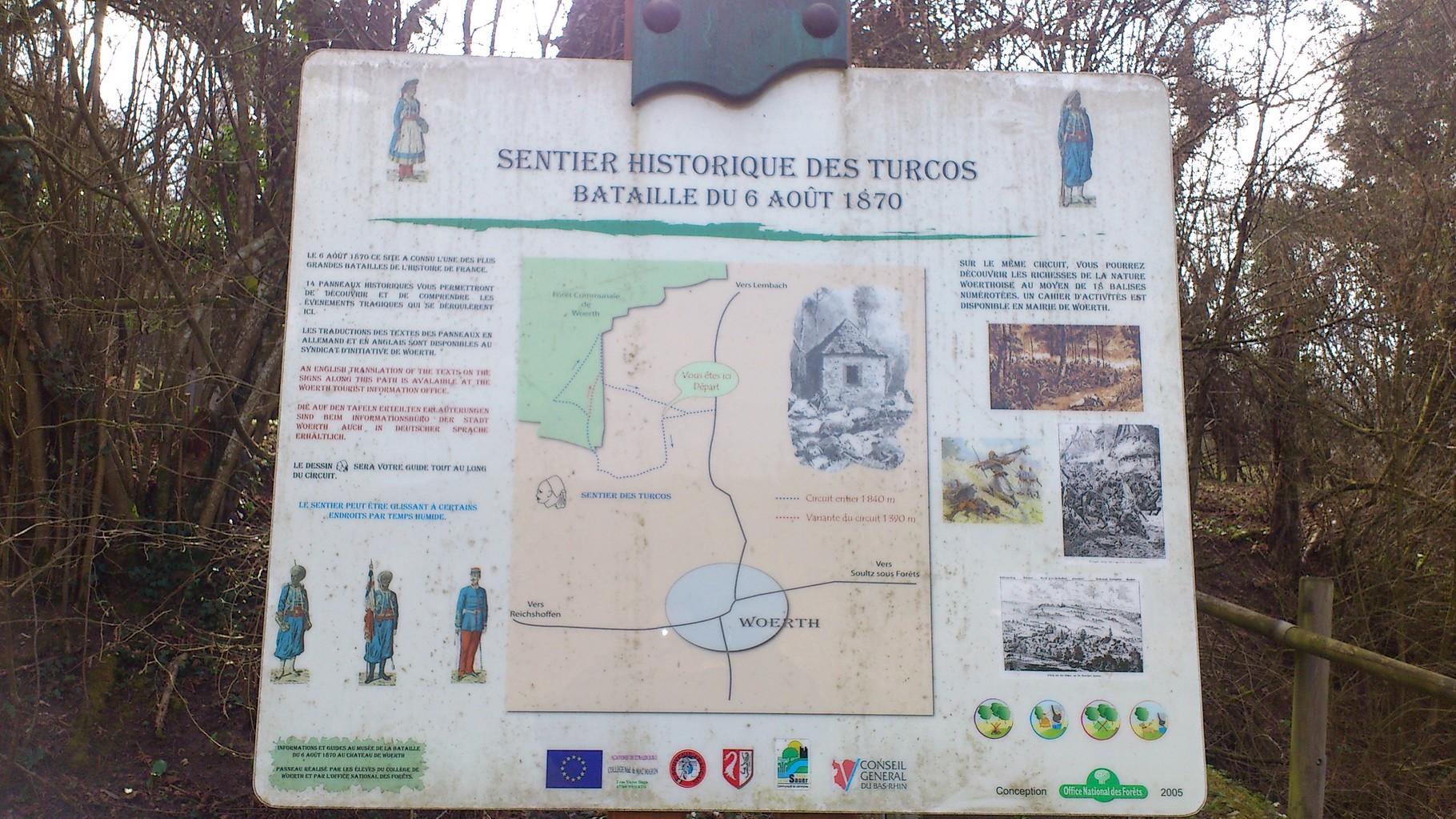 Début du Sentier des Turcos
