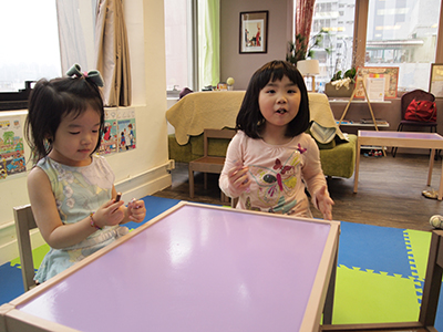 Toddlers learning French