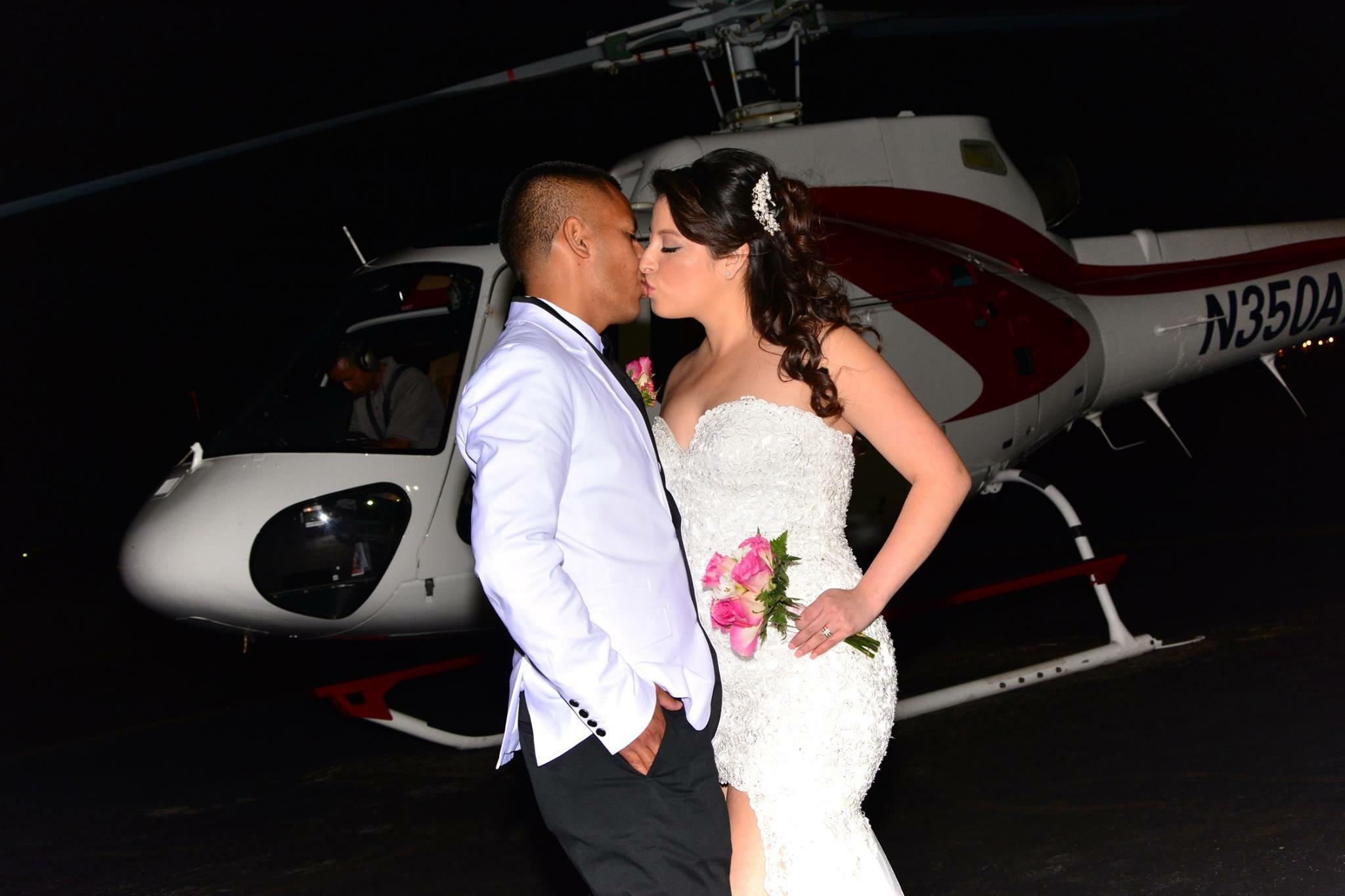 Heiraten im Helikopter