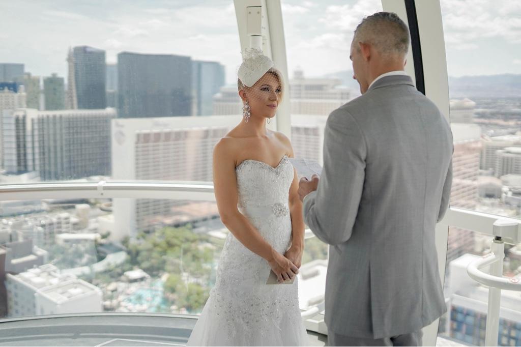 Eheversprechen Las Vegas Riesenrad Hochzeit im High Roller