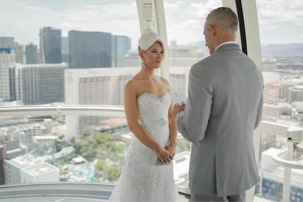 Las Vegas Riesenrad Hochzeit am Las Vegas Strip in VIP Kabine