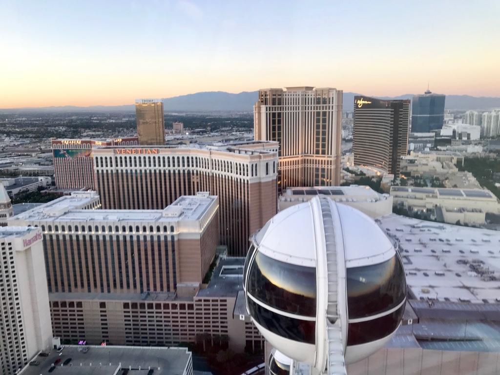 Aussicht Las Vegas Riesenrad Hochzeit im High Roller