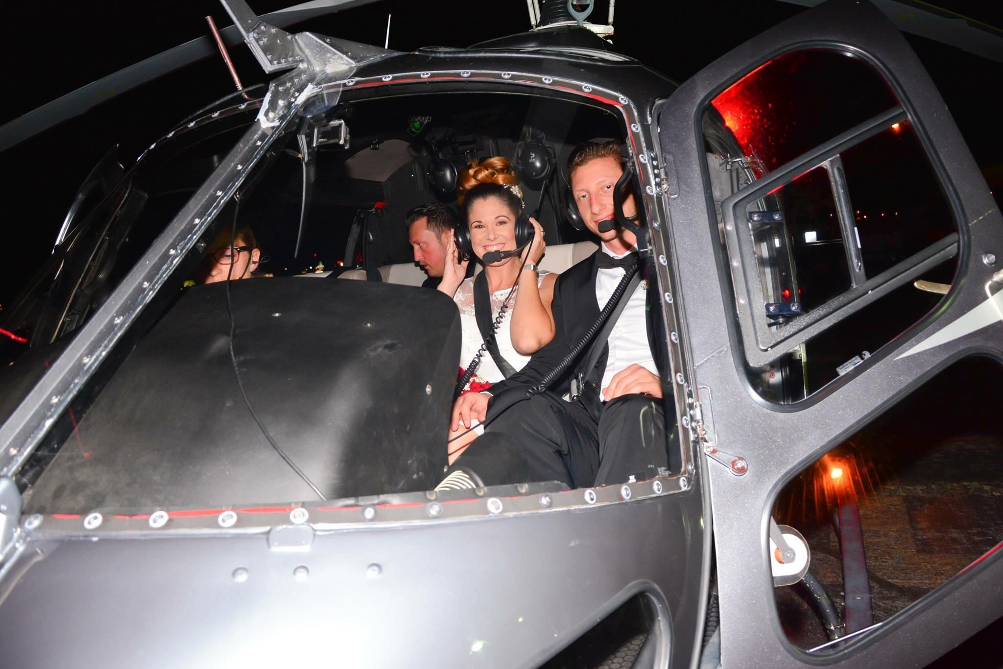 Das Brautpaar mit unserem erfahrenen Piloten