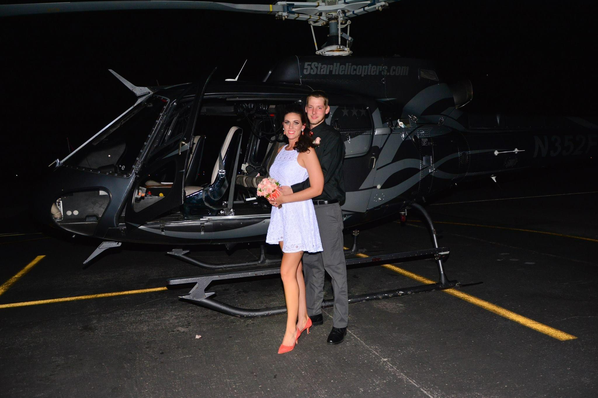 Luxushelikopter die eine Las Vegas Hochzeit unvergesslich machen