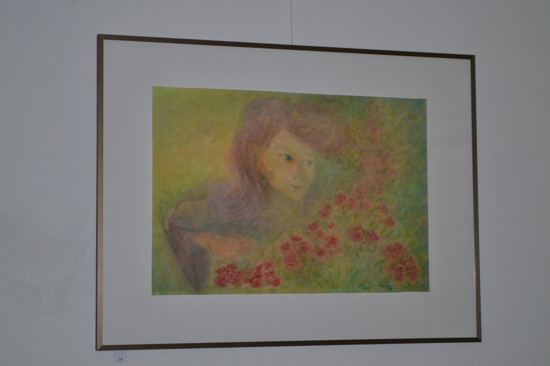 Die Blumenhüterin, Aquarell Schichttechnik, 60x80cm 380€