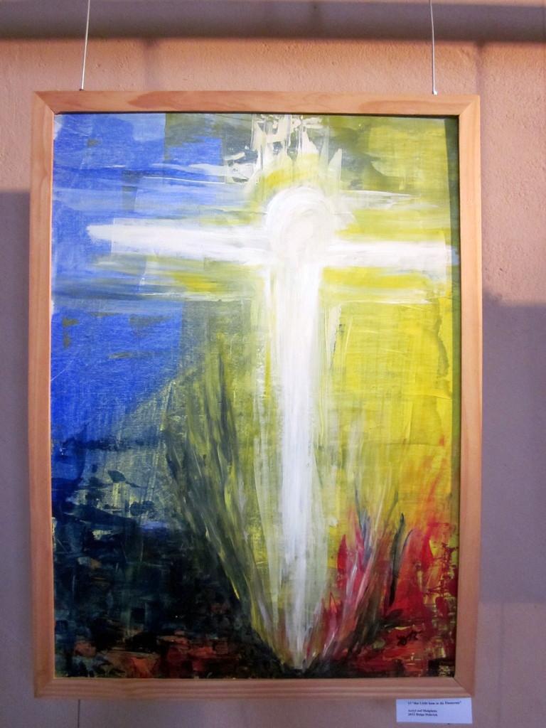 7 Licht kahm in die Finsterniss, Acryi auf Malpappe,50x70, 280€