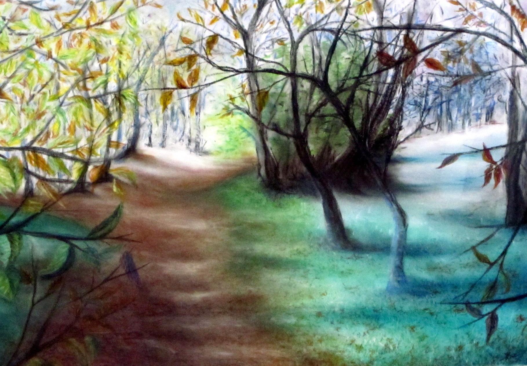 Hebstmorgen, Pastellkreide a Papier, 60x80cm, 220€, verkauft