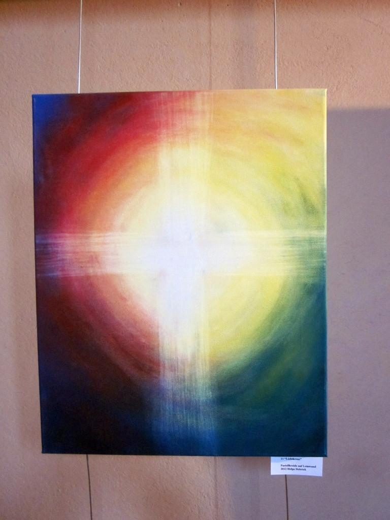 9Lichtkreutz,Pastelkreide Auf Leinwand,50x70,160€ / verkauft
