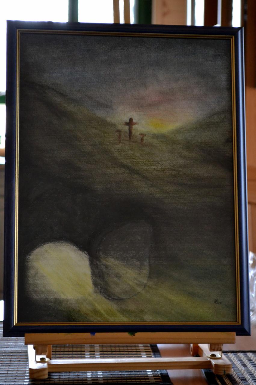 Die Auferstehung,Pastellkeide verkauft