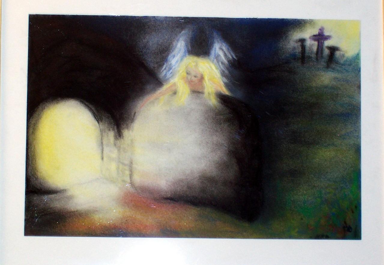 12 Er ist wahrhaftig auferstanden,Pastellkreide auf Papier, 50x40 Verkauft