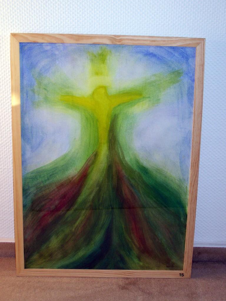 14 der teramorphe Christus,Acryl auf Papier 70x100,185€