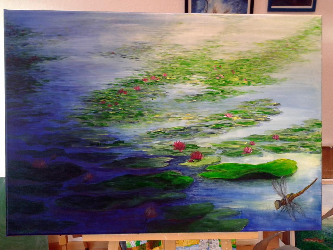 Acryl a Leinwand100x70cm, gerahmt, 580€