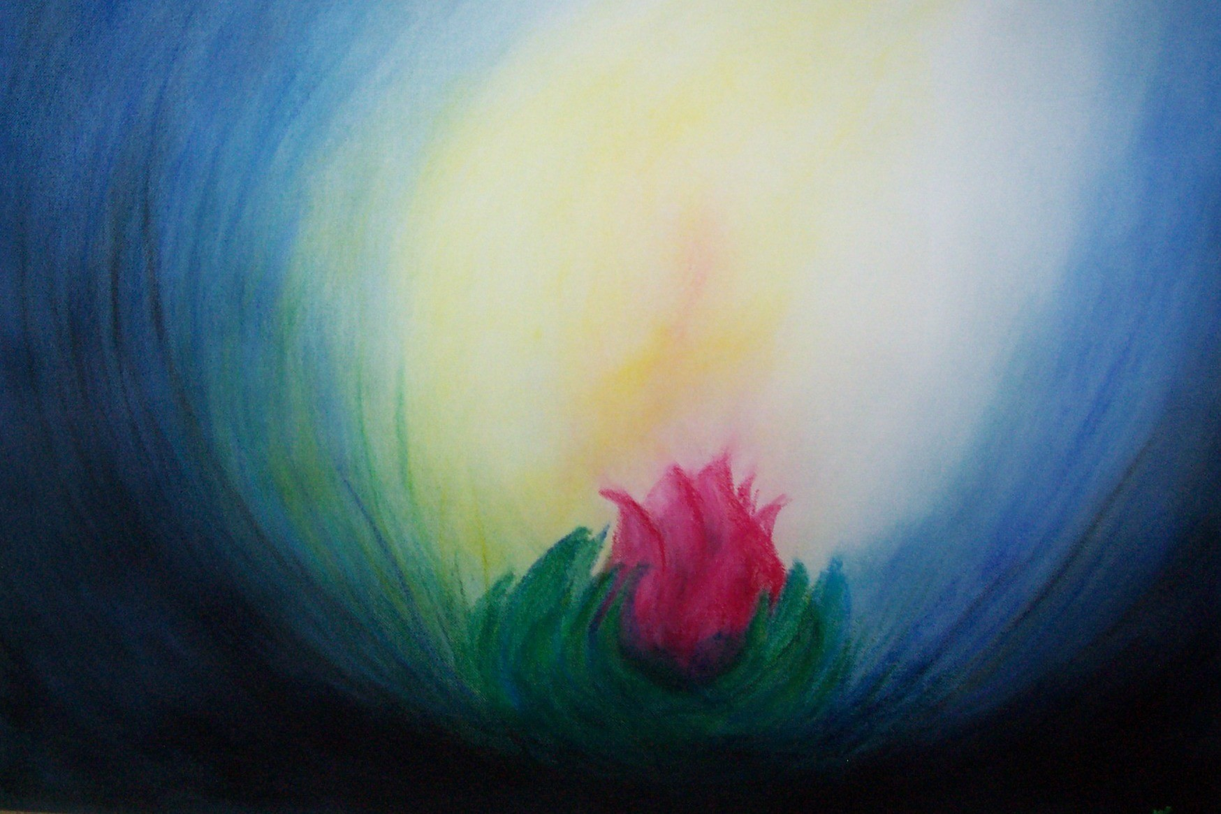 Meditation, Pastellkreide a Leinwand,100x70cm, verkauft