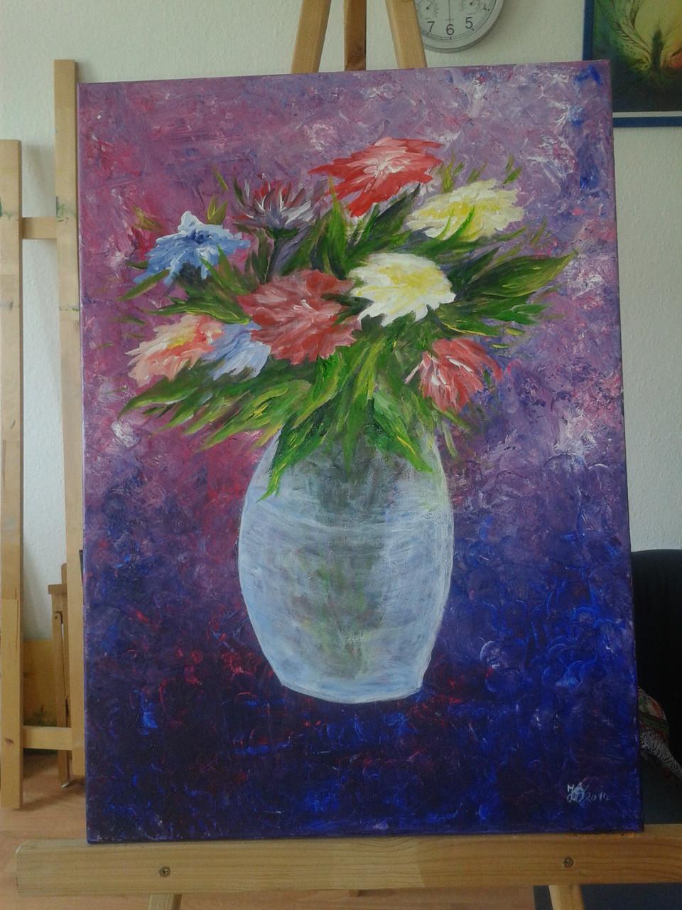 Die Glasvase, Acryl auf Leinwand 50x70cm, 250 €