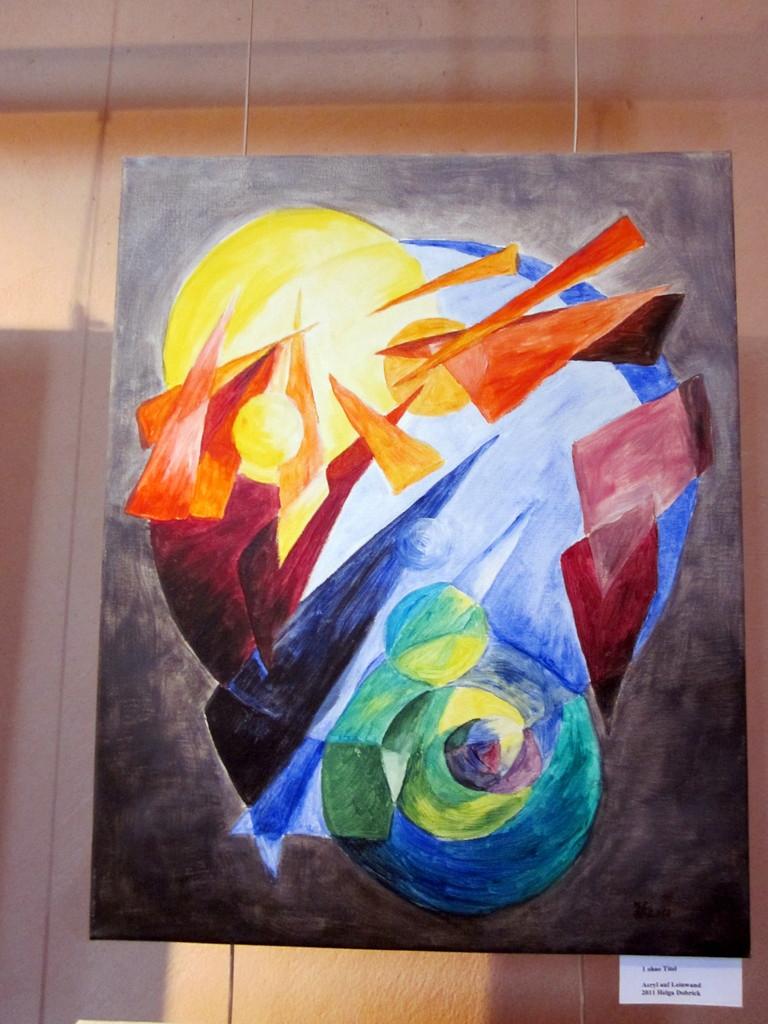 3  und er sprch es werde Licht, Acryl auf leinwand, 40x50, 150€