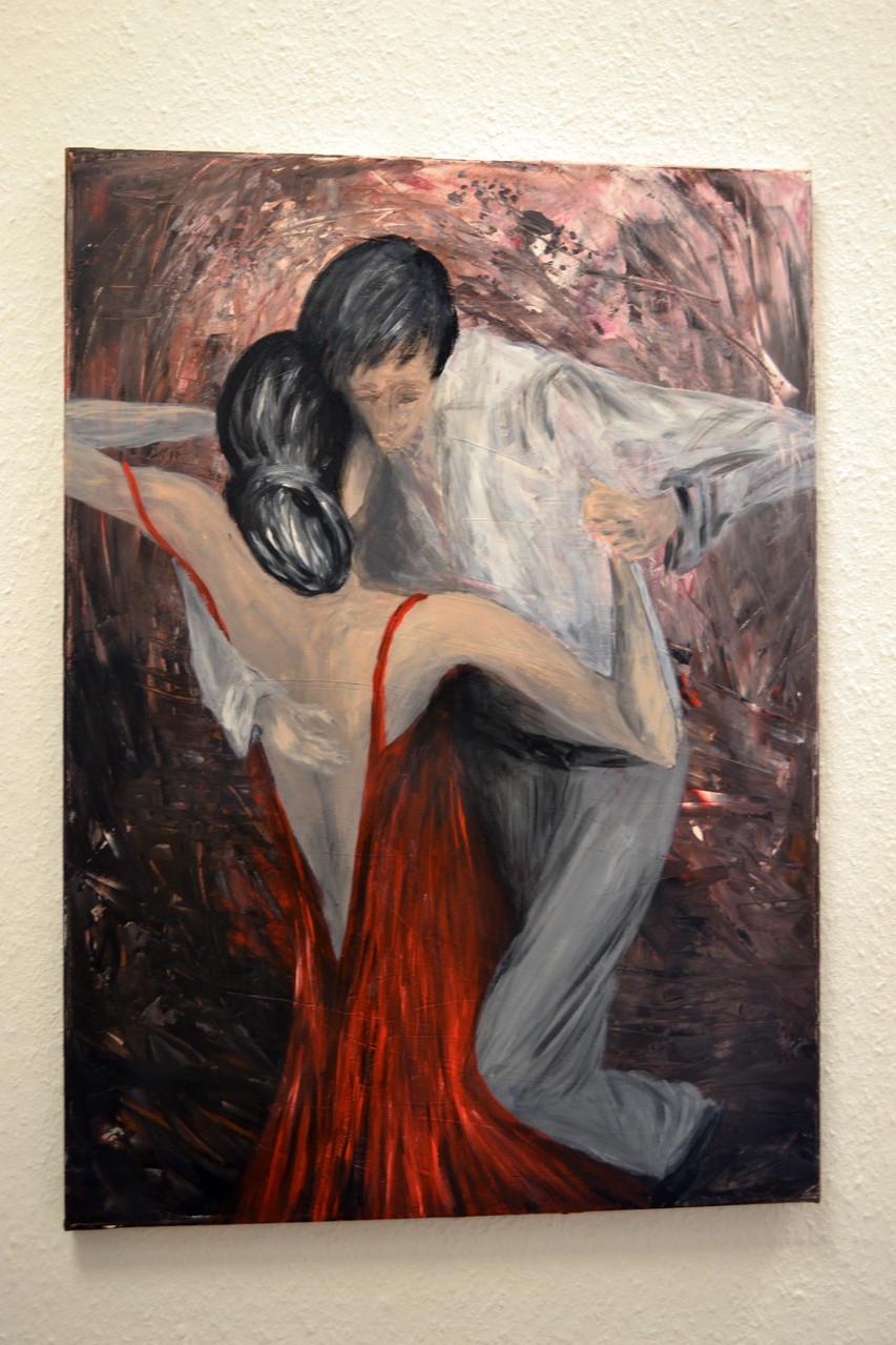 Tango,Acryl auf Leinwand 50x70cm, 450 € verkauft