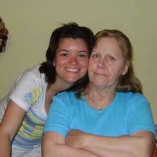 Norali y su mama adoptiva hoy