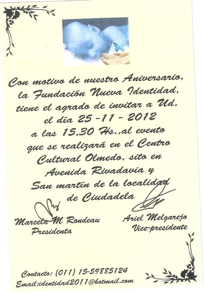 NUESTRA TARJETA DE INVITACION PERSONALIZADA