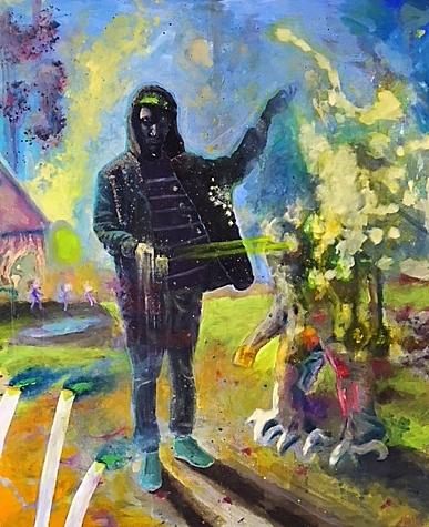 Felix Pensel / Der Zauberer / 100 x 140 cm   1.600, EUR