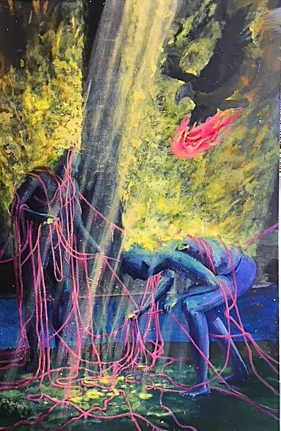Felix Pensel / Fäden  / 100 x 160 cm    1.900, EUR