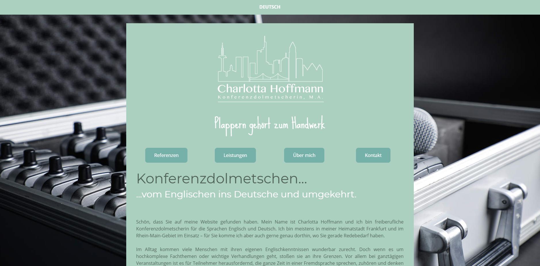 Relaunch. Website für eine freiberufliche Dolmetscherin. Meine Aufgaben: Komplette Neustrukturierung der Website...