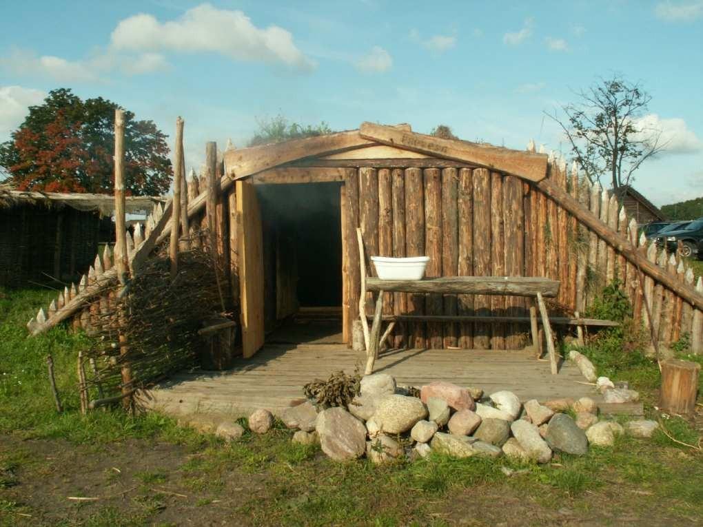 Sauna im Wikingerdorf