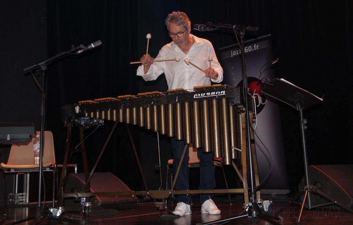Patrice Gillon; Jazz Vibes Quartet, soirée JAZZ360, Cénac. 20/10/2018. Photographie : Pierre Cazenave