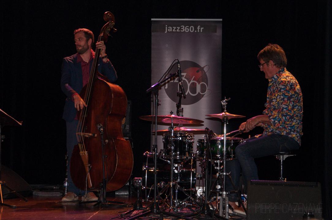 Aurélien Gody, Jean-Patrick Allant; Jazz Vibes Quartet, soirée JAZZ360, Cénac. 20/10/2018. Photographie : Pierre Cazenave