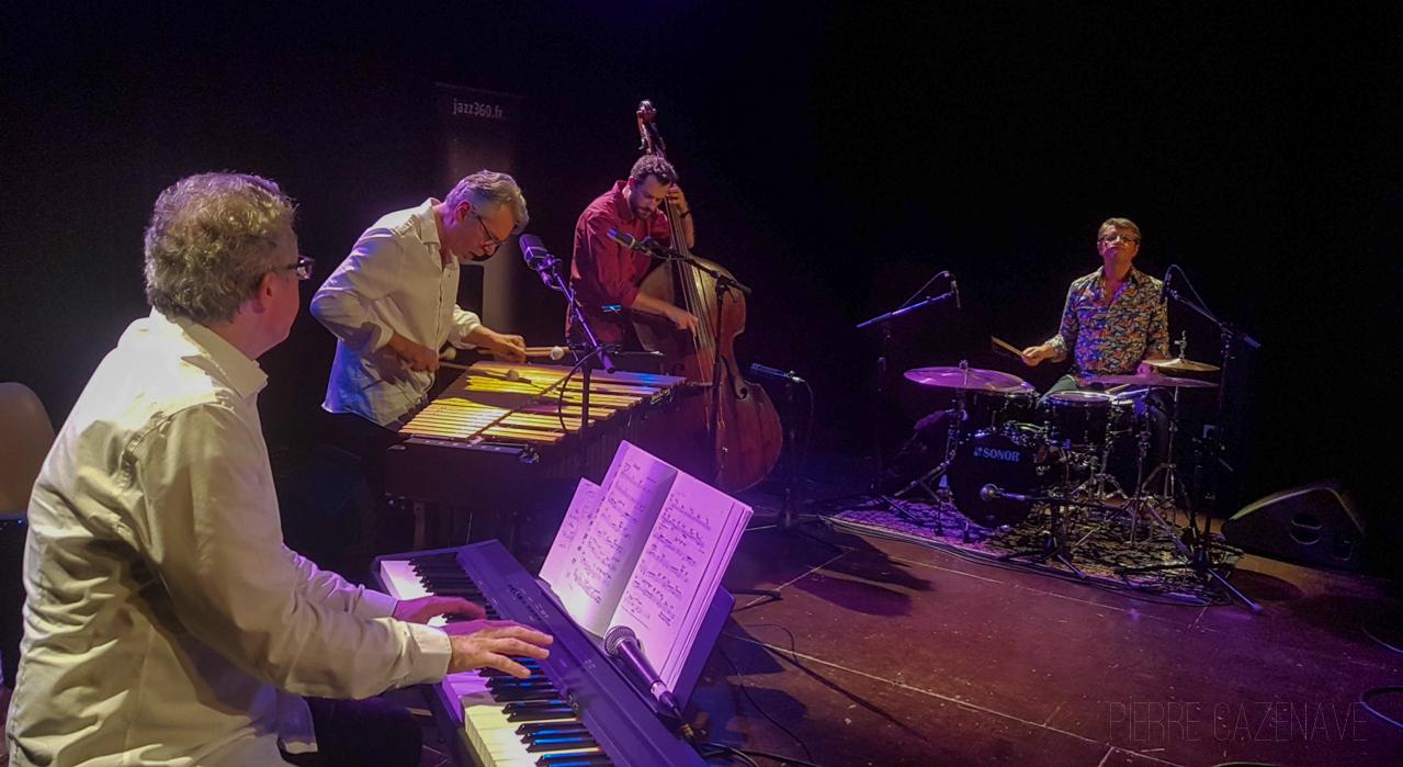 Jacques Ballue, Patrice Gillon, Aurélien Gody, Jean-Patrick Allant; Jazz Vibes Quartet, soirée JAZZ360, Cénac. 20/10/2018. Photographie : Pierre Cazenave