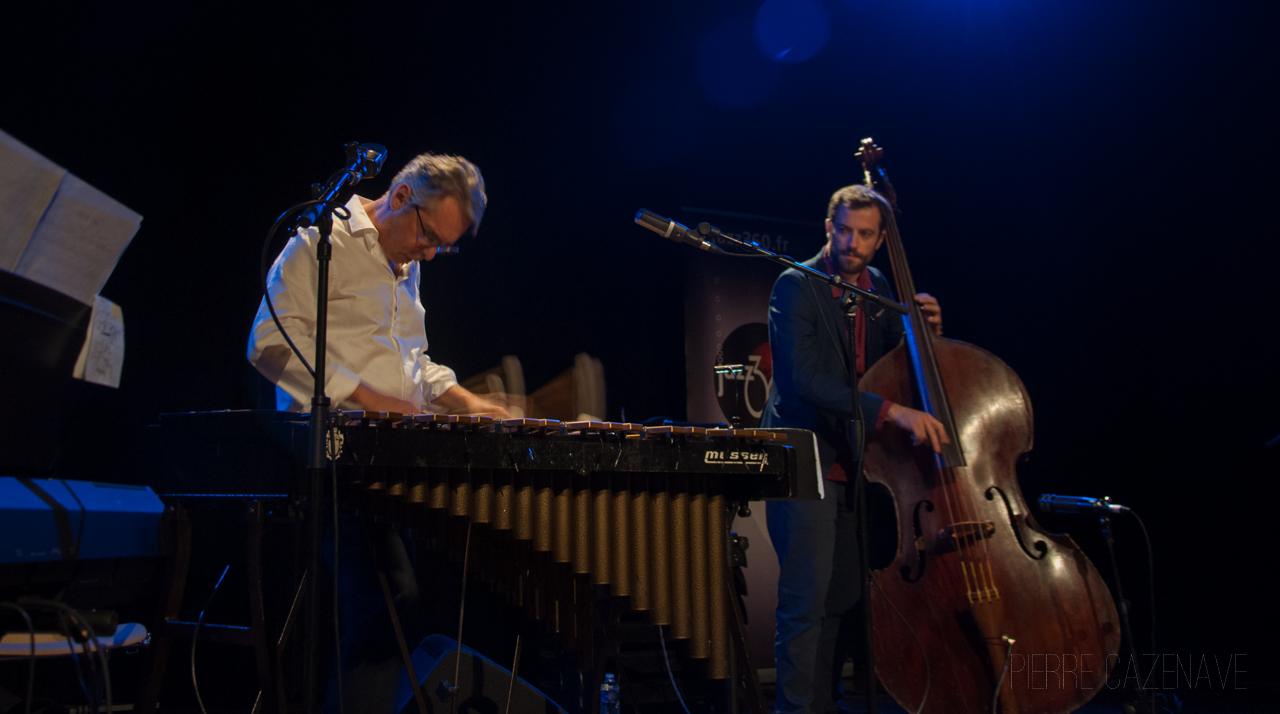 Patrice Gillon, Aurélien Gody; Jazz Vibes Quartet, soirée JAZZ360, Cénac. 20/10/2018. Photographie : Pierre Cazenave