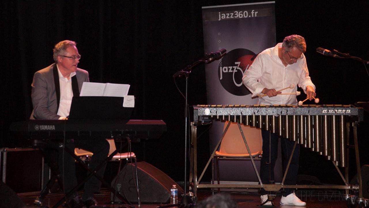 Jacques Ballue, Patrice Gillon; Jazz Vibes Quartet, soirée JAZZ360, Cénac. 20/10/2018. Photographie : Pierre Cazenave