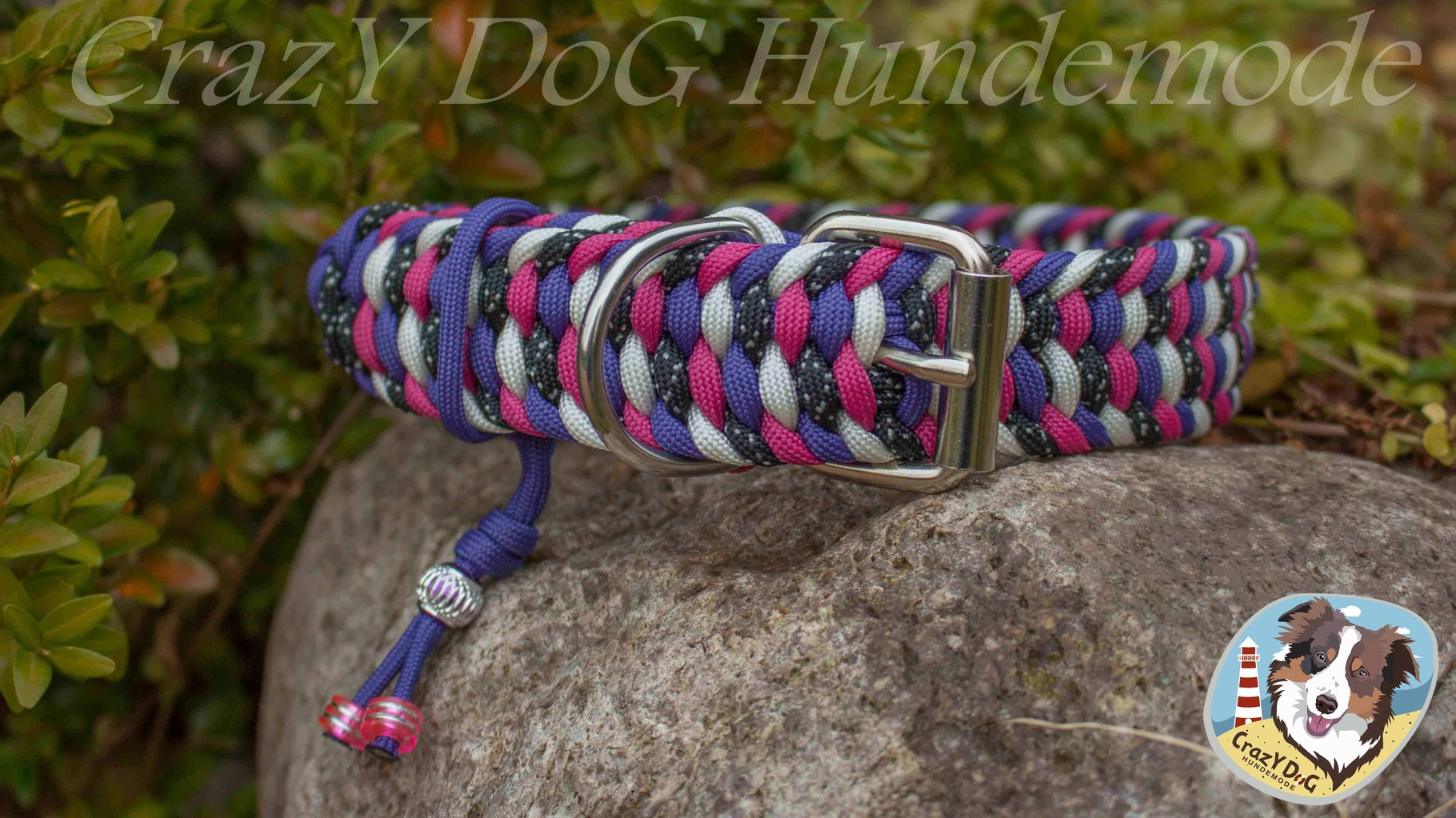 """Verstellbares Halsband mit Rollschnalle aus Stahl (Siehe Option """"Verstellbares Halsband Paracord"""")"""