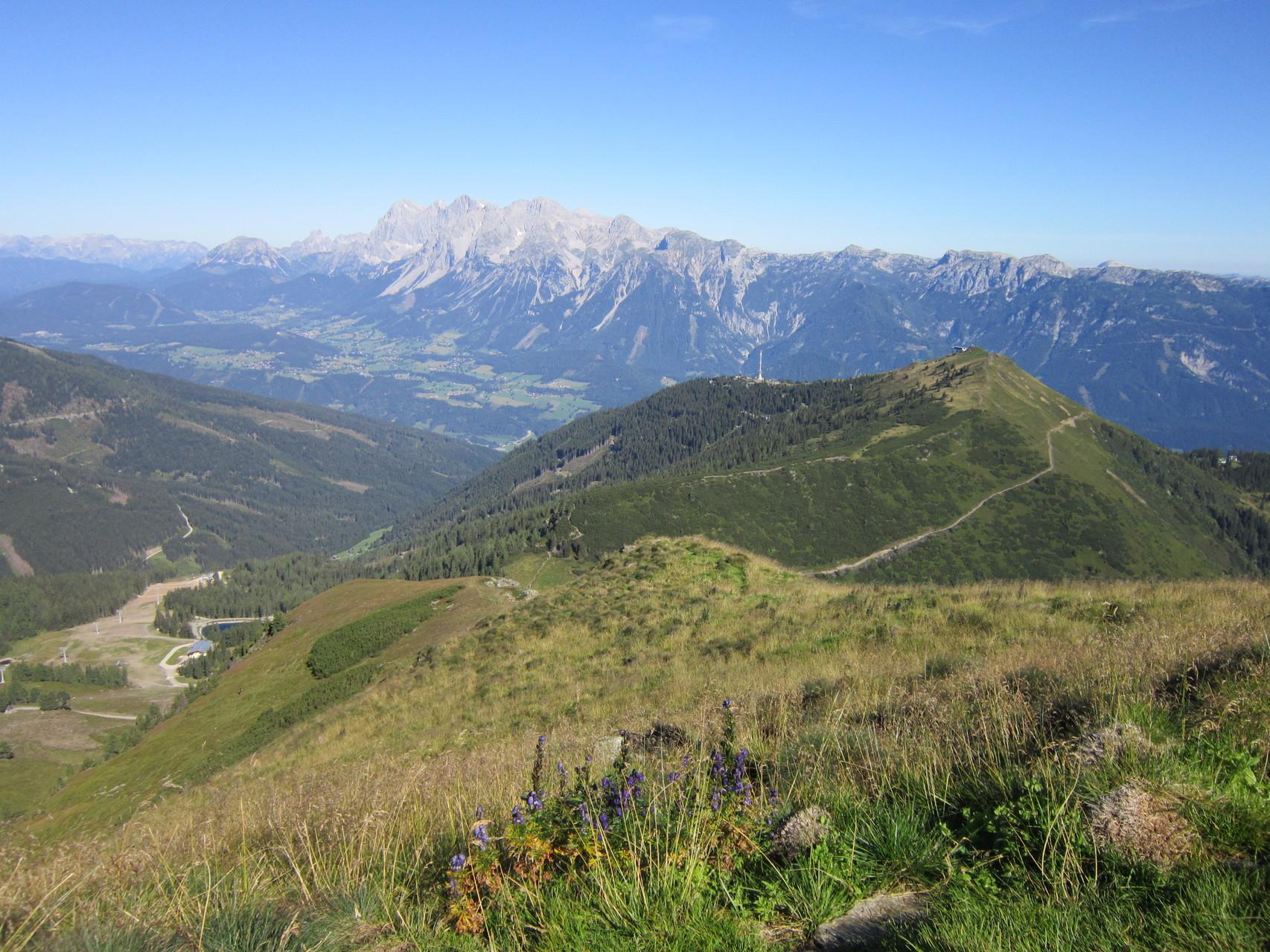 Der Hauser Kaibling, im Hintergrund das Dachstein Gebirge