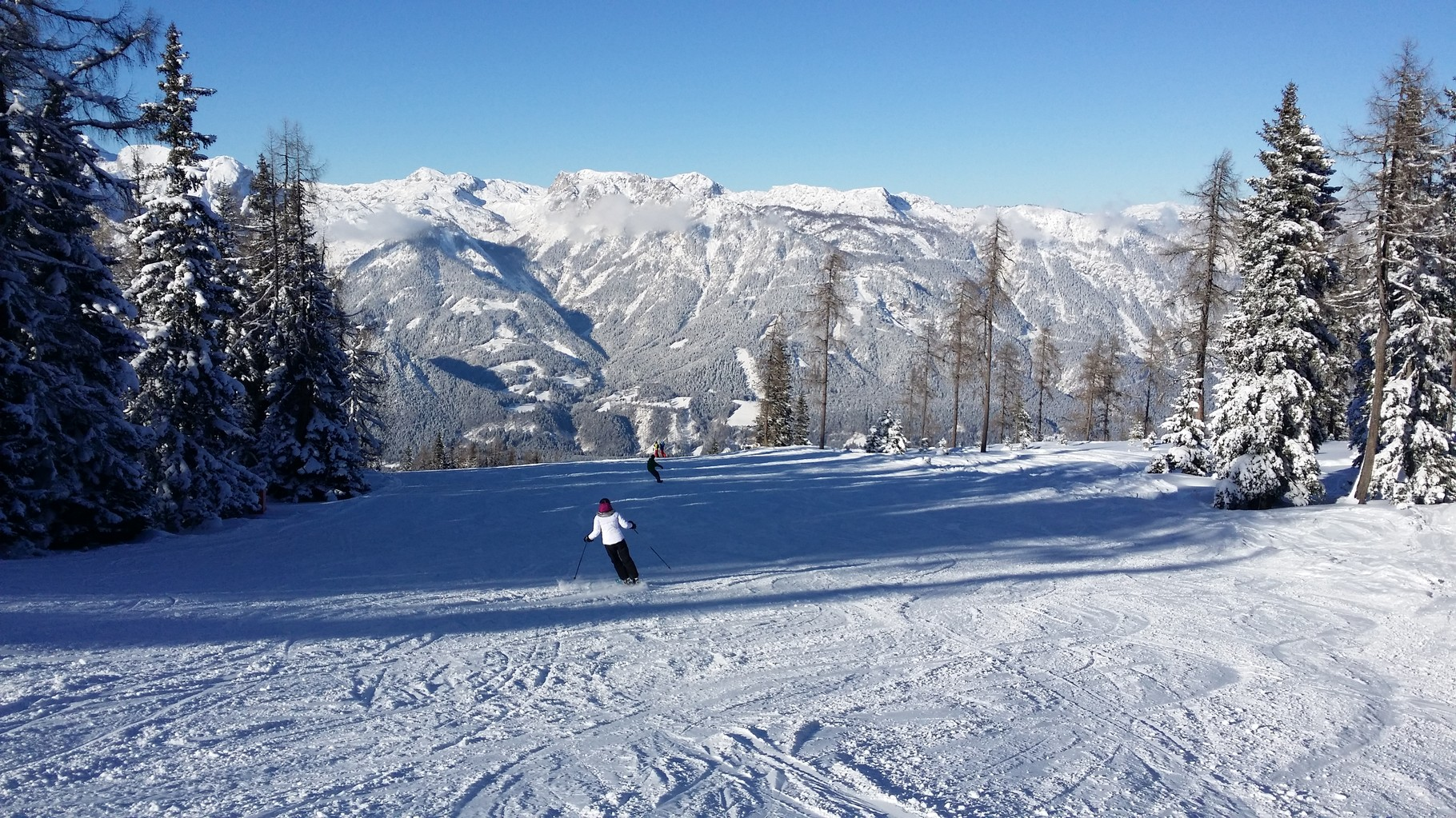 Easy and difficult slopes